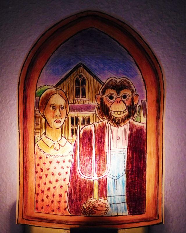 American Gothic Night Light